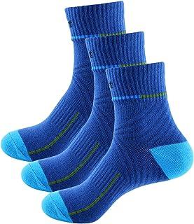 Sasasiry 3 Pack Hombre Modernas Calcetines Para Casual Deportivos Hombre Calcetines Deportivos Antideslizantes Cortos Airy Para Jogging Baloncesto Gris Azul Gris Negro