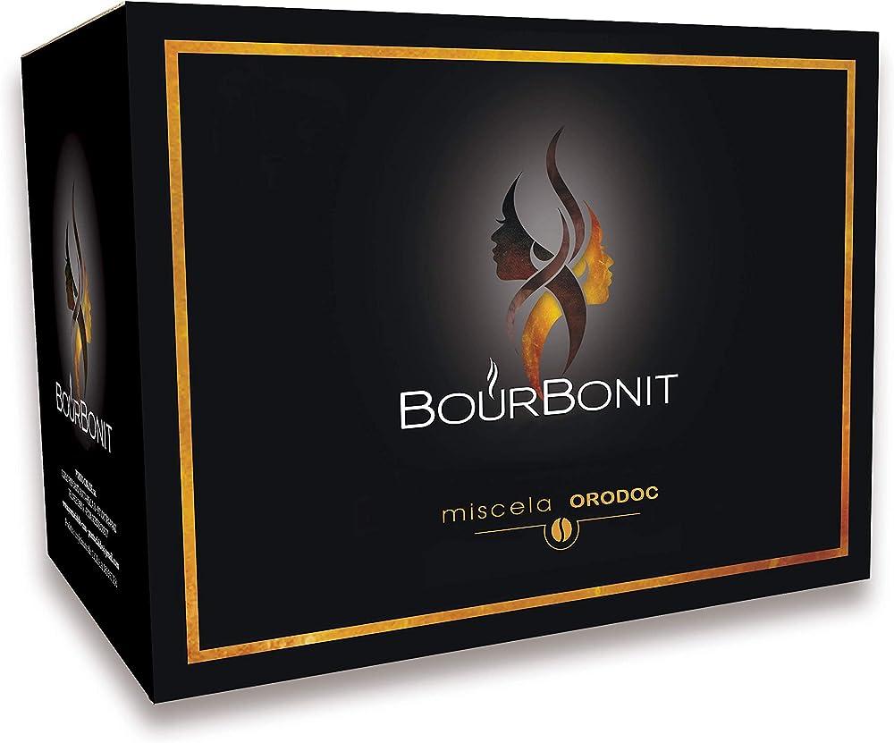 Caffè bourbonit oro doc, 100 capsule compatibili, dolce gusto