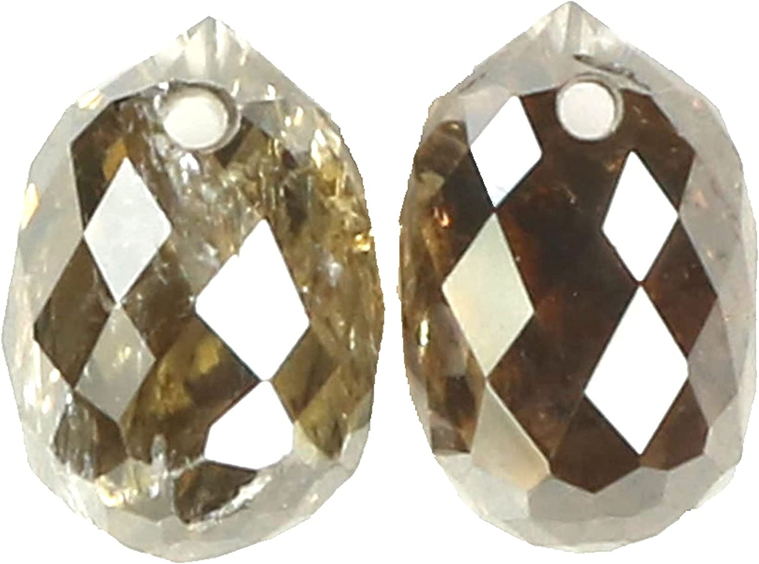 1.20 Ct Natural wholesale Loose Long-awaited Briolette Brown Diamond