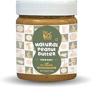 Trubite Natural Peanut Butter (Creamy) 350g | Unsweetened | 30g Protein | Non GMO | Gluten Free | Cholesterol Free