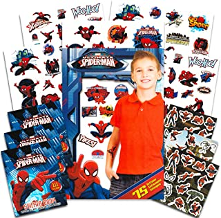 Marvel Spiderman Stickers and Tattoos Party Favors (333 Spider-Man Stickers, 75 Temporary Tattoos)
