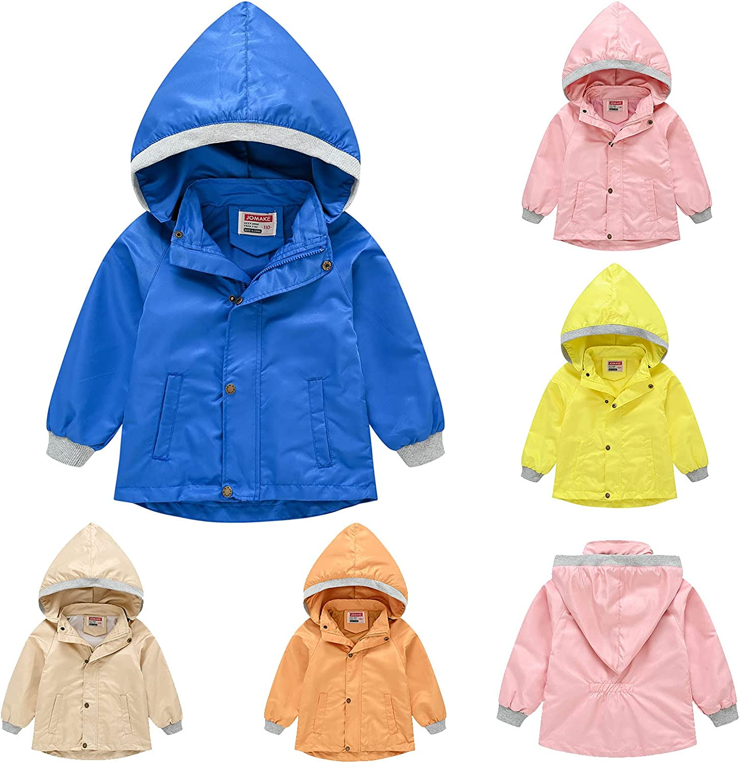 Children Windbreaker Baby Many popular brands Boys Girls Hooded Jacket Pure Sp Max 43% OFF Color