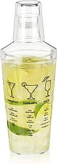True 2882 Bulk Plastic Glass Recipe Alcohol Martini, Maraca Cocktail Shaker