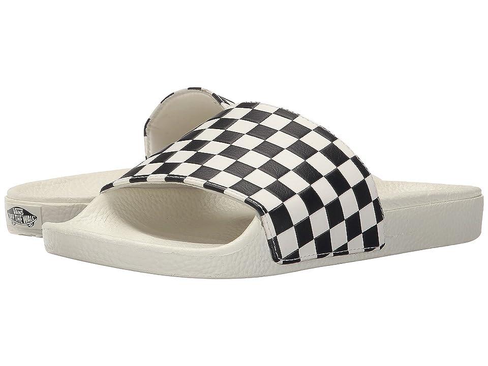 dc9eb7b0c88f88 Vans Slide-On ((Checkerboard) White Black) Women s Sandals