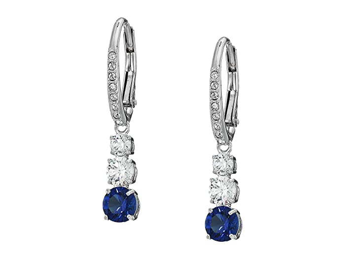190659d553766 Swarovski Attract Trilogy Round Pierced Earrings | Zappos.com