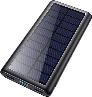 comprar comparacion HETP Cargador Solar 26800mAh Batería Externa Power Bank con 2 USB Puertos de Salida Simultánea Solar Powerbank Carga Rapid...