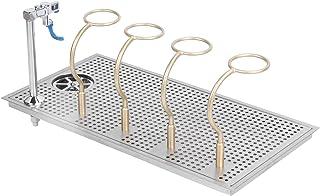 Rince-tête de robinet, rinçage de nettoyage de verre de sortie d'eau multi-angle commercial en acier inoxydable à montage ...