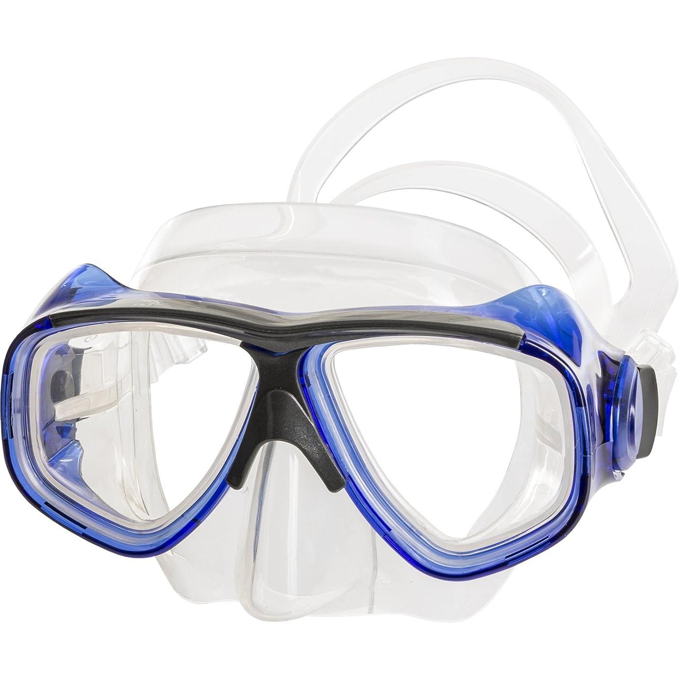 IST Prescription Mask- Optical Corrective Scuba Diving Snorkeling Mask - Rx Prescription- Bk, Yellow, Blue, Bk Silicon