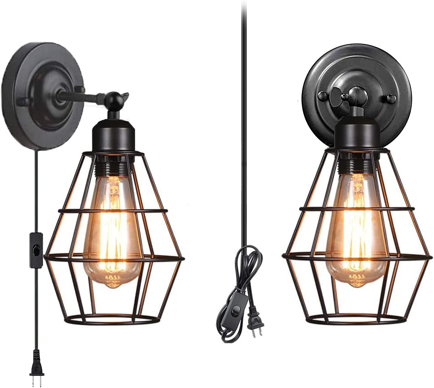 Wall Sconce 2 Pack Pendant Brand Cheap Sale Venue Plug Industrial Lamp Super intense SALE Light with
