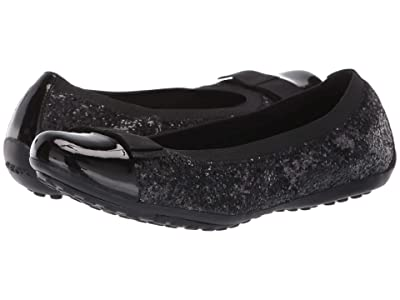 Geox Kids J Piuma 72 (Big Kid) (Black Oxford) Girls Shoes