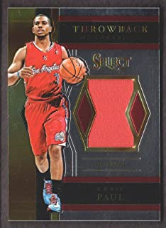 2017-18 Select Basketball Throwback Memorabilia #TM-CP3 Chris Paul Jersey Los Angeles Clippers