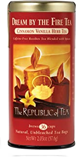 The Republic of Tea Dream By The Fire Tea, 36 Tea Bags, Holiday Vanilla Cinnamon Blend