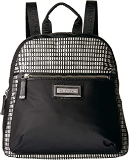 Belfast Nylon Raffia Backpack