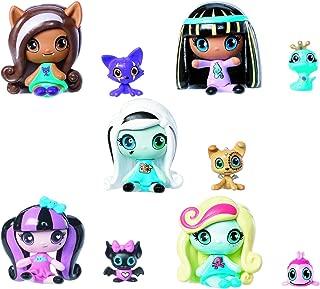 Monster High Minis Draculaura Frankie Stein Clawdeen Wolf Cleo De Nile Lagoona & Pets 5 Set