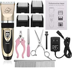 Electric Rechargeable Pet Dog Cat Animal Hair Trimmer Clipper Shaver Razor Set Cutting Machine