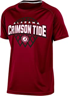 Champion NCAA Boy's Short Sleeve Crew Neck Raglan Synthetic T-Shirt