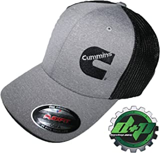 Cummins Fitted OSFA mesh Back Diesel Dodge Truck Gray Black Flexfit