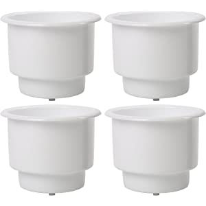 6X Recessed Plastic Cup Drink Can Holder with Blue LED Marine Boat RV Camper
