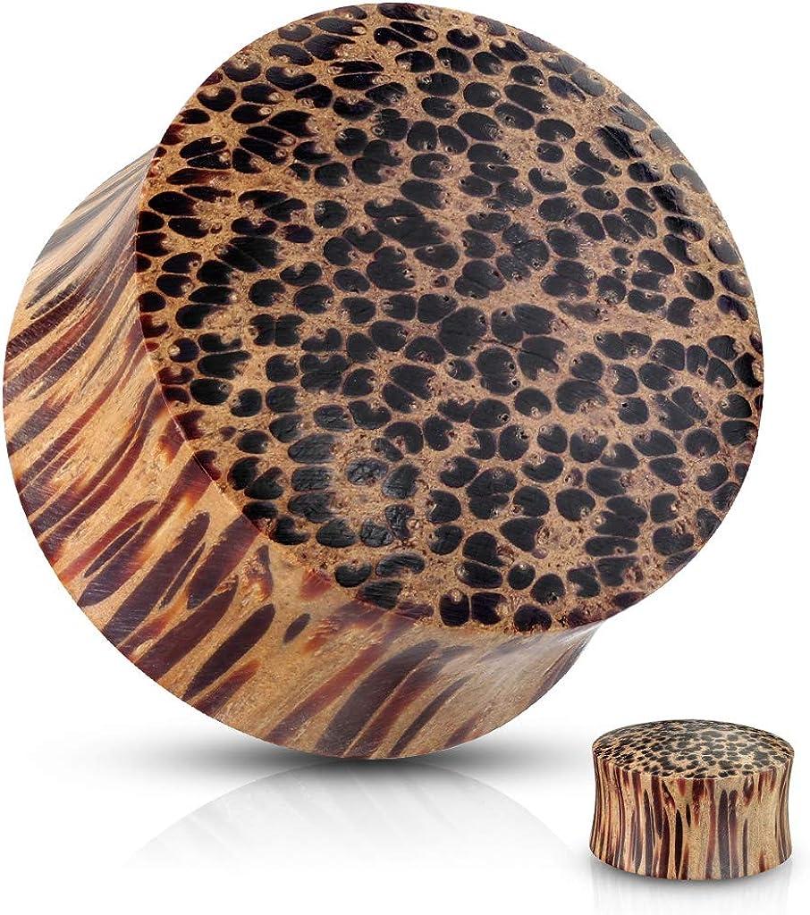 Covet Jewelry Coco Wood Saddle Fit Organic Solid Plug