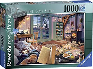Ravensburger The Cosy Shed 1000 Piece Jigsaw Puzzle for Adults - Every Piece is Unique, Softclick Technology Means Pieces ...