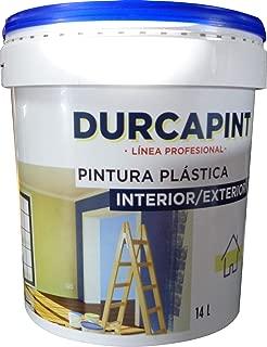 DURCAPINT Revestimiento Sierra Nevada: Pintura Revestimiento liso color blanco económica, para protección y decoración de fachadas, impermeable y transpirable. (21,5Kg))