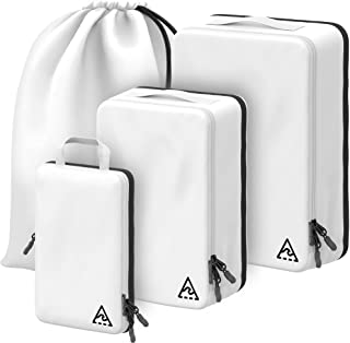 Well Traveled - 3pc Compression Packing Cubes for Travel - Luggage Organizer, Suitcase Organizer & Backpack Organizer with...