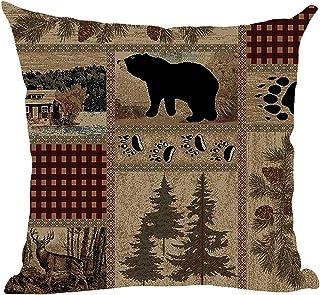 Black Bear Pillow Lumbar Pillow Rectangle Pillow Home Decor