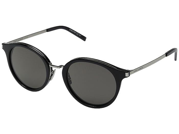 Saint Laurent SL 57 (Black/Smoke Barberini Mineral Lens) Fashion Sunglasses