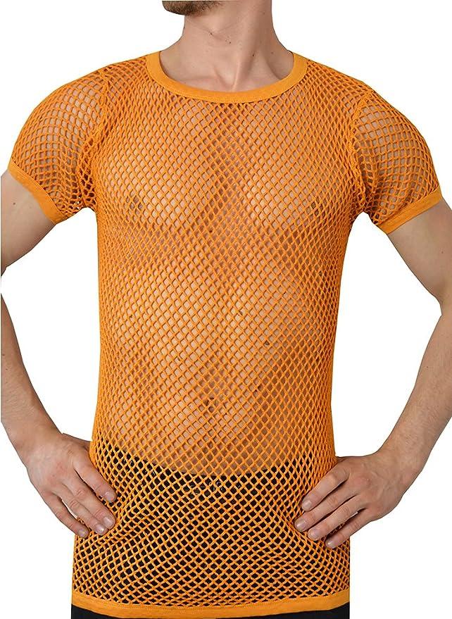 Crystal Hombre 100% Algodón Camiseta de Malla Ajustada Tallas S-2XL Disponibles