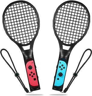 ELTD マリオテニス用Nintendo Switch Joy-Con ハンドル 2個セット エース 専用ハンドル 任天堂 switch ジョイコン ブラック