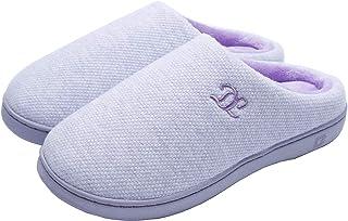 DL Womens-Memory-Foam-Slippers, Slip on House Slippers for Women Indoor Outdoor, Women's Bedroom Slippers Non-Slip Hard So...