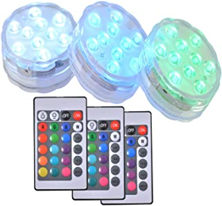 Nother Remote Control Submersible LED Lights, RGB Colorful Change Color, Good Waterproof Performance, for Decoration of Ro...
