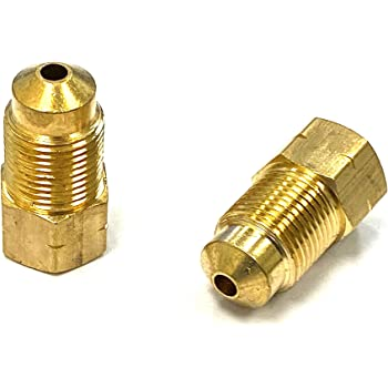Brake Line Union AGS BLU-10C 6mm Solid Brass M12 x 1.0 Bubble Flare Union