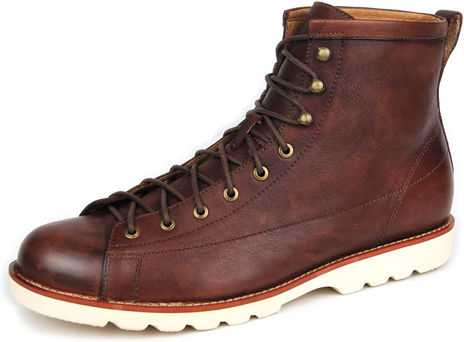 OTTO ZONE Men's Classic Moc 6  Boot Leather Chukka Boots for Men Lace up shoes OZ-JY001