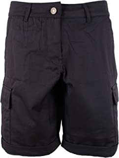 Womens Cotton Combat Canvas Chino Cargo Shorts