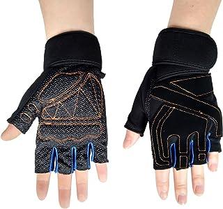 Steampunk Gothic Gloves Mens Vintage Geuuine Leather Captain Fingerless Mittens