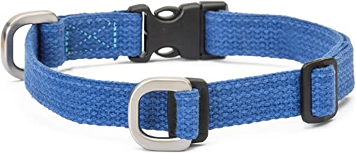 product image for WEST PAW Strolls Dog Collar with Hemp, Small, Midnight Blue, Made in USA