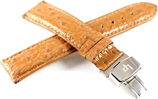 Lucien Piccard 20MM Crocodile Grain Real Leather Watch Strap 7.5