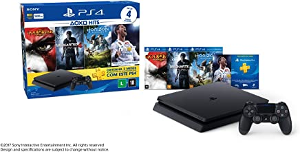 Console PlayStation 4 - Slim 500GB - Hits Bundle v2