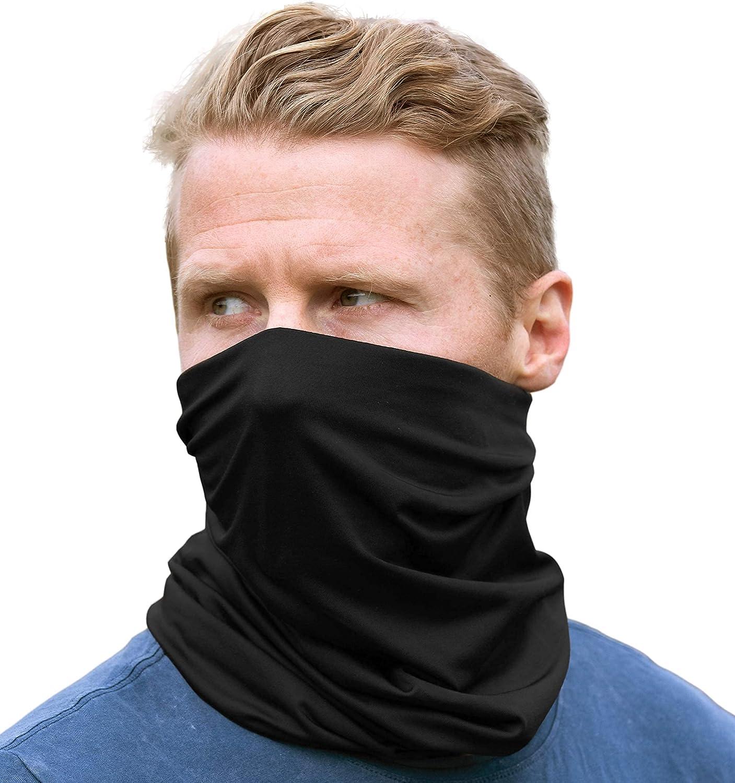 Neck Gaiter Face Mask - Face Cover & Sleeve w/ UV & Dust Protection - Pull Over Masks & Bandana - Fishing, Running & Hiking