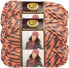 Lion Brand (3 Pack) Hometown USA 100% Acrylic Soft Albuquerque Orange & Black Yarn for Knitting Crocheting Super Bulky #6