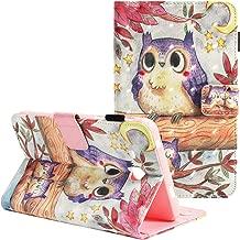 Folio Case Galaxy Tab A 7.0 SM-T280/SM-T285, ZAOX Fashion Protective Leather Stand Flower Cute Flip Stylus Holder Card Slots Cover Samsung Galaxy Tab A 7.0 inch Tablet 2016, Owl Star