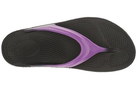 Oofos En Sandales Oolala Violet Noir Satin Graphiteblack 5r5zaq