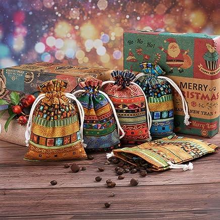 Jutebeutel Geschenks/äckchen mit Tunnelzug Verpackung f/ür Schmuck Hochzeit Party Feiern Weihnachten braun windyday Schmuckbeutel Baumwolle,Jutes/äckchen Natur S/äckchen