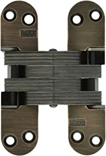 SOSS 218 Zinc Invisible Hinge with Holes for Wood or Metal Applications, Oil Rubbed Bronze Exterior Finish