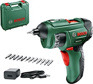 BOSCHBosch PSR Select Cordless Screwdriver with Integrated 3.6 V Lithium-Ion Battery