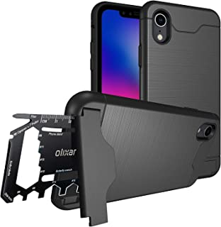 Olixar Multi Tool Utility Case for Apple iPhone XR, with 26 in 1 Survival Multi Tool - Protective Armour Cover - Credit Ca...