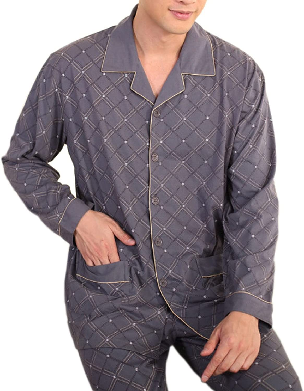 HEFASDM Mens Long Sleeve Single Breasted Denim Premium Casual Shirt