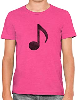 Austin Ink Apparel Little Music Note Soft Kids Unisex Girls Cotton T-Shirt Tee