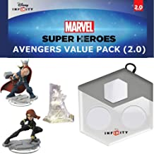 Disney Infinity: Marvel Superheroes (2.0 Edition) The Avengers Value Pack: Thor and Black Widow Figures, Avenger's Tower Set Piece, and Disney Infinity Portal Base (For Wii, Wii U, Playstation 3 + 4)